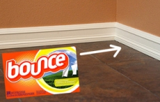 Keep baseboards cleaner with fabric softner - Household Tips