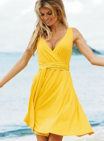Daytime Jersey Sleeveless Wrap Dress - Knock 'em Dead Dresses