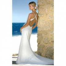 Criss-Cross Back Beach Wedding Dress - My Wedding Dress