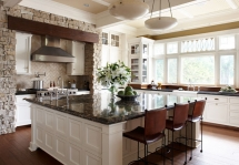 Wonderful large square kitchen island - Dream Kitchens