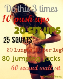 Seems easy enough - Exercises that can be done at home