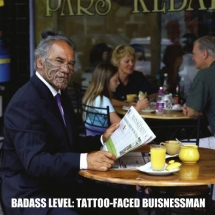 Tattoo-faced businessman - Fantastic shots
