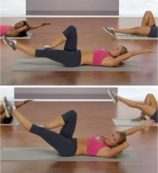 Weighted Bicycle - Ab Exercises