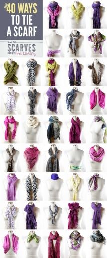 40 Ways to Tie a Scarf - Fashion