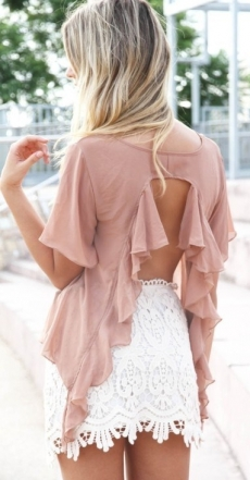 Love this open backed top - My Summer Fashion