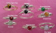 wire and gem rings - Rings