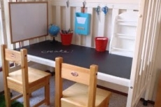 Repurpose Baby Crib as a Child's Desk - Kid's Room