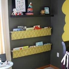 Fabric Sling Bookshelf - Kid's Room