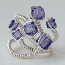 wire wrapped ring - Rings
