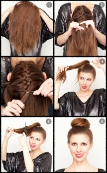 Ballerina Bun with Braid - Fave hairstyles