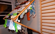 Wall Mounted Clothes Drying Rack - Laundry Room Ideas