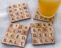 Make Your Own Scrabble Coasters - Fun crafts