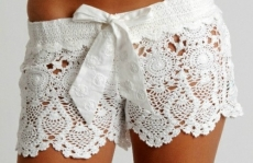 Crochet shorts with bow - My Summer Fashion