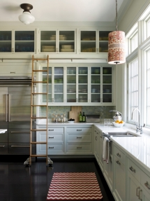 Ladder in the kitchen and lots of cupboards - Dream Kitchens