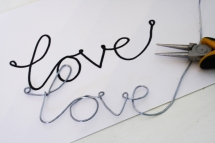 Wire Love Pendant - Jewlery making ideas
