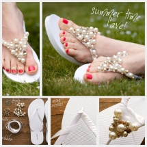 Beaded Flip Flops! - Fun crafts