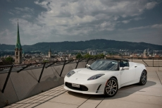 Telsa 2012 Roadster in Arctic White - Electric Sports Cars
