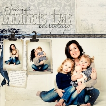 Mother's Day Scrapbook Page - Scrapbooking