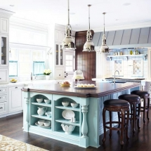 Kitchen Island - large and colorful - Dream Kitchens