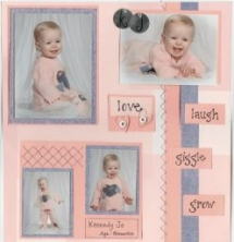 cute ideas for daughters scrapbook - Scrapbooking Ideas
