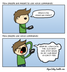 How people actually use voice commands - Funny comics