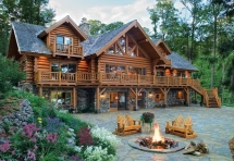 idk man, i just really love log cabins - Dream house designs