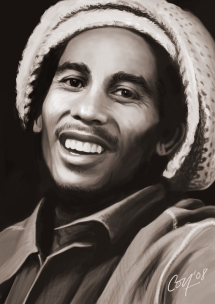 Bob Marley - Celebrity Portraits