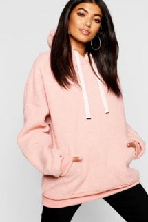Borg Pocket Knitted Oversized Boyfriend Jumper - Fave Clothing, Shoes & Accessories