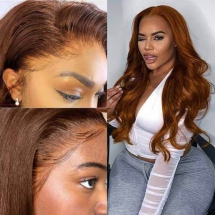Brown Hair Lace Front Wigs Body Wave -Ashimary Hair - Party ideas