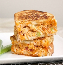 Buffalo Chicken Grilled Cheese - Best Recipes Ever