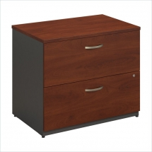 Bush BBF Series C 36W 2Dwr Lateral File in Hansen Cherry - Home Office
