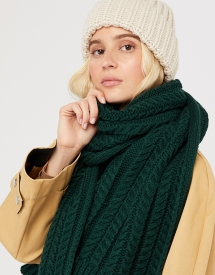 Cable Knit Scarf - Fave Clothing, Shoes & Accessories
