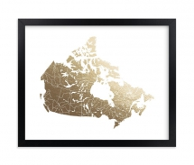 Canada Map Foil Stamped Wall Art - Art for home and cottage