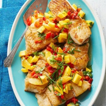 Caribbean White Fish with Mango-Orange Relish - I love to cook