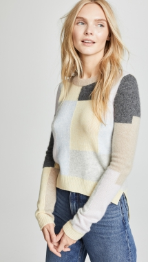 Cashmere Patchwork Sweater designed by Adam Lippes - Fave Clothing, Shoes & Accessories
