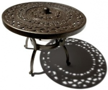 Cast Aluminum Side Table with Ice Bucket - Outdoor Furniture