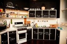 Chalkboard Kitchen Cupboards - Kitchen ideas