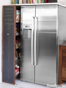 Chalkboard pull-out pantry - Kitchen ideas
