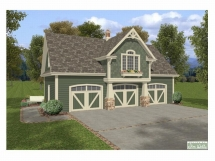 Charming carriage house plan - Detached Garage