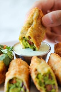 Cheesecake Factory styled Avocado Egg Rolls - Easy recipes