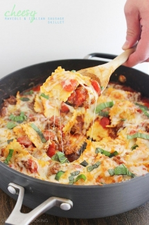 Cheesy Ravioli and Italian Sausage Skillet - I love to cook