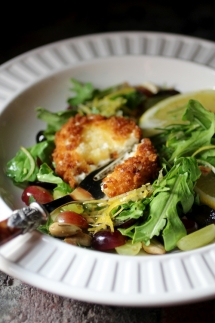 Chèvre Chaud Salad with Limoncello Dressing - Vegetarian Cooking
