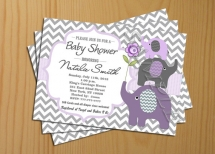 chevron baby shower invitation girl boy invites FREE Thank You card included Printable - Party ideas