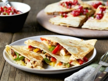 Chicken Quesadillas - Cooking