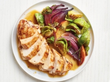 Chicken with Brussels Sprouts and Apple Cider Sauce - I love to cook