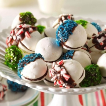Chocolate-Dipped Meringue Sandwich Cookies - Desserts