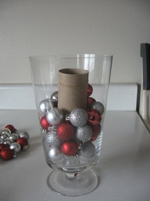 Christmas Ornaments in a Vase - Christmas Decoration