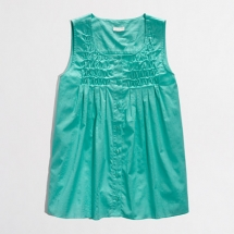 Chrome Green gathered top from J Crew - My Summer Fashion