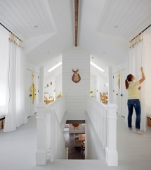 Clean attic space with sleeping births - Attic Space