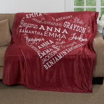 Close To Her Heart Personalized Fleece Blanket - Christmas Gift Ideas